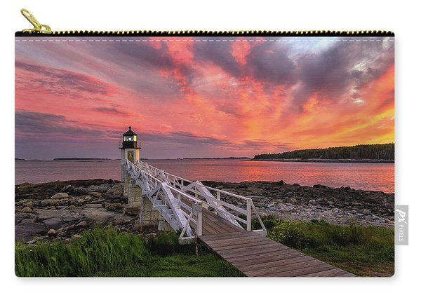 Dramatic Sunset At Marshall Point Lighthouse Carry-all Pouch
