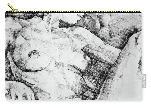 Drawing Beautiful Girl Figure Carry-all Pouch