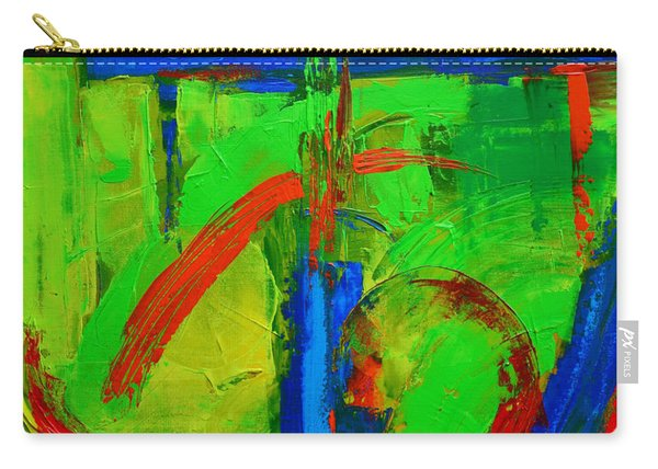 Dream In Green Modern Abstract Art Carry-all Pouch