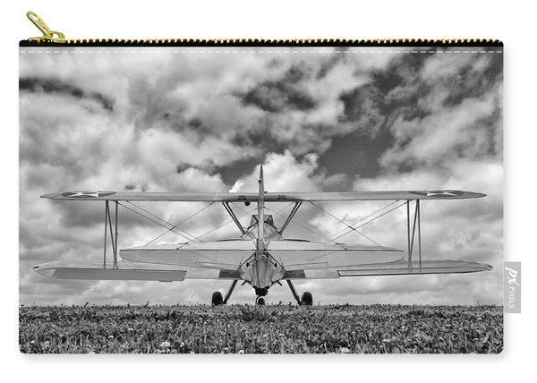Dreaming Of Flight, In Black And White Carry-all Pouch