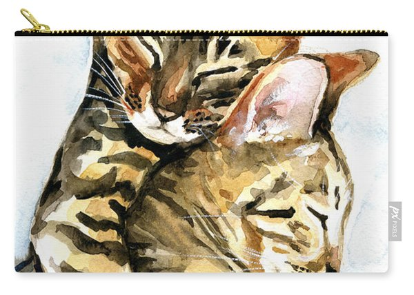 Dreamland - Bengal And Savannah Cat Painting Carry-all Pouch