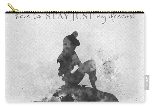 Dreams Black And White Carry-all Pouch