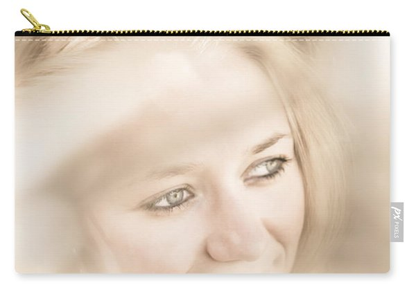 Dreamy Eyes Through Wicker Lines Carry-all Pouch