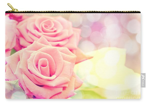 Dreamy Pastel Roses Carry-all Pouch