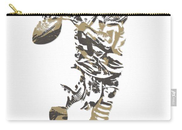Drew Brees New Orleans Saints Pixel Art T Shirt 1 Carry-all Pouch