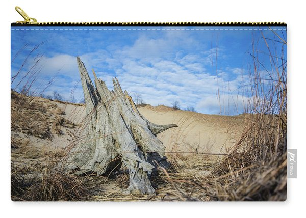 Dried Stump At Warren Dunes Carry-all Pouch