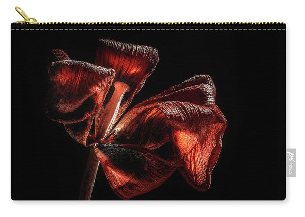 Dried Tulip Blossom Carry-all Pouch