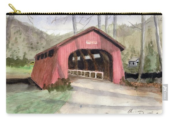 Drift Creek Covered Bridge Watercolor Carry-all Pouch