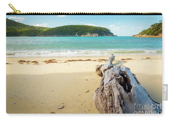 Driftwood On Beach Carry-all Pouch