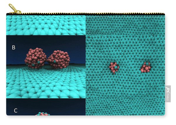 Drilling Of Graphene Nanoparticles Carry-all Pouch