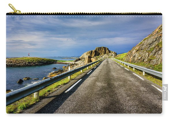 Driving Along The Norwegian Sea Carry-all Pouch