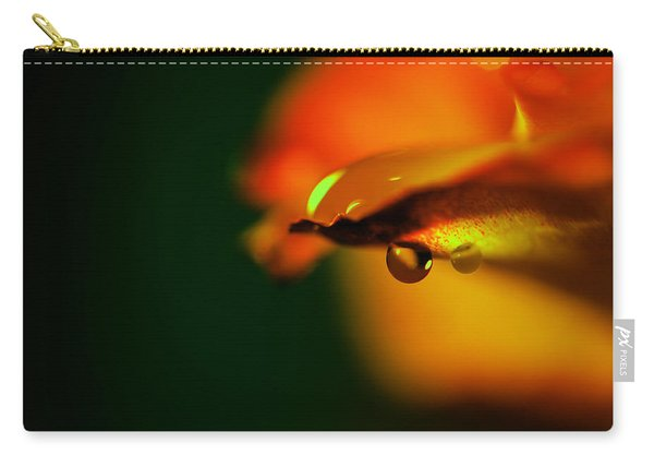 Droplet Off A Rose Petal Carry-all Pouch