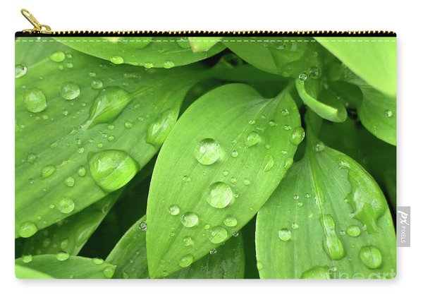 Drops On Leaves Carry-all Pouch