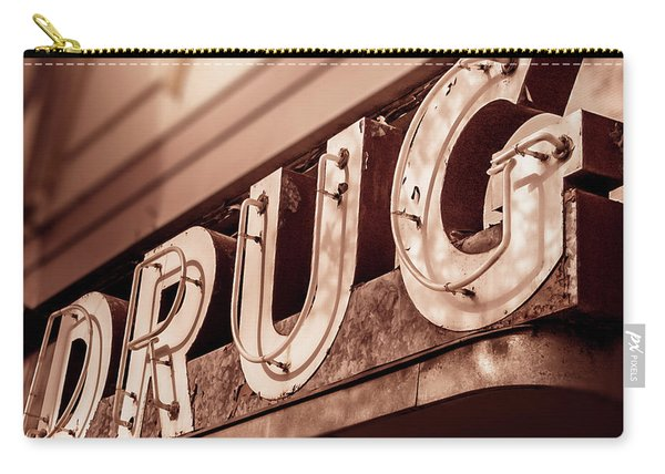 Drug Store Sign - Vintage Downtown Pharmacy Carry-all Pouch