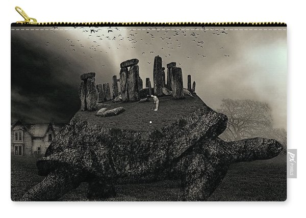 Druid Golf Black And White Carry-all Pouch