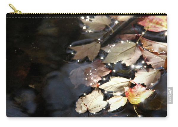 Dry Leaves Floating On The Surface Of A Stream Carry-all Pouch