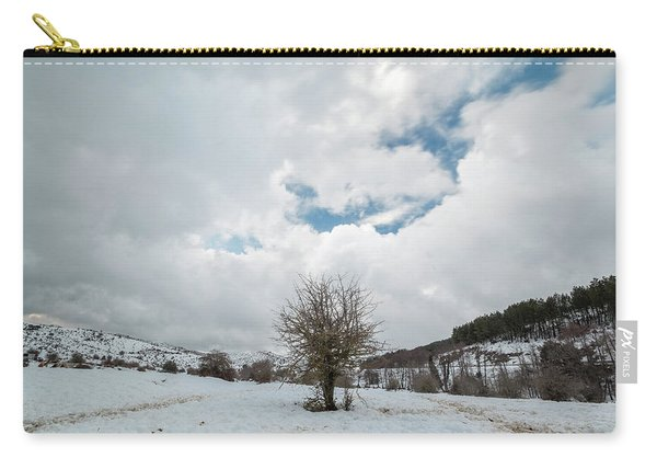 Dry Tree In The Snow Carry-all Pouch