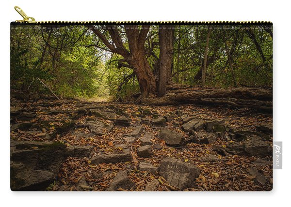 Dry Wash And Osage Orange Carry-all Pouch