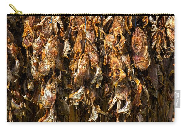 Drying Fish Heads - Iceland Carry-all Pouch