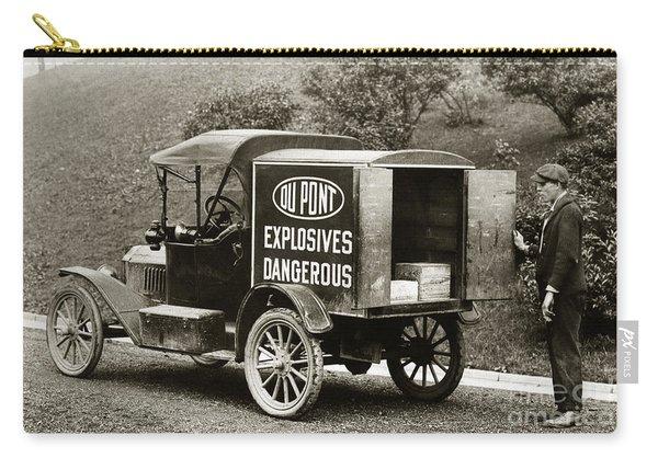 Du Pont Co. Explosives Truck Pennsylvania Coal Fields 1916 Carry-all Pouch