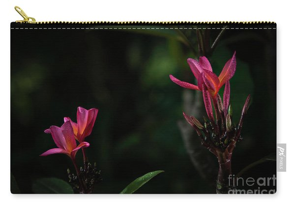 Dual Red Plumerias Carry-all Pouch