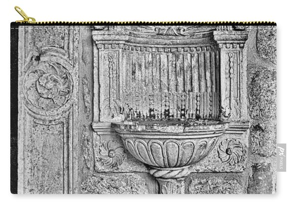 Dubrovnik Wall Art - Black And White Carry-all Pouch