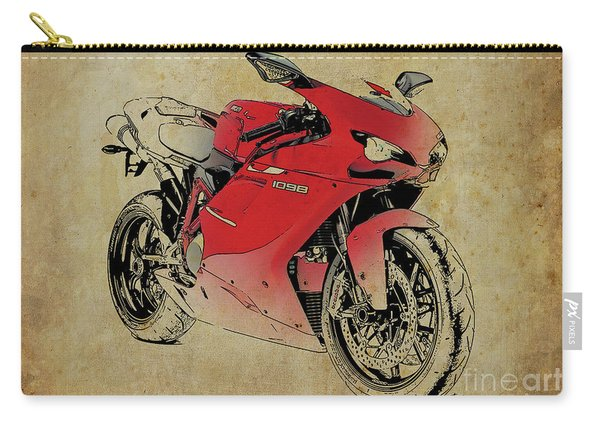 Ducati 1098s 2007, Original Artwork For Fathers Day Gift Carry-all Pouch