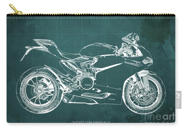 Ducati Superbike 1299 Panigale 2015, Gift For Men, Green Background Carry-all Pouch