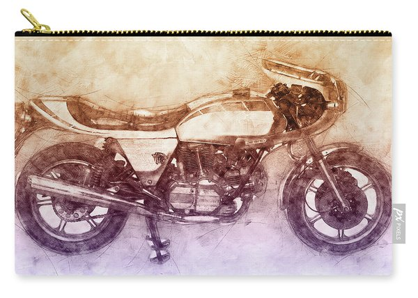 Ducati Supersport 2 - Sports Bike - 1975 - Motorcycle Poster - Automotive Art Carry-all Pouch