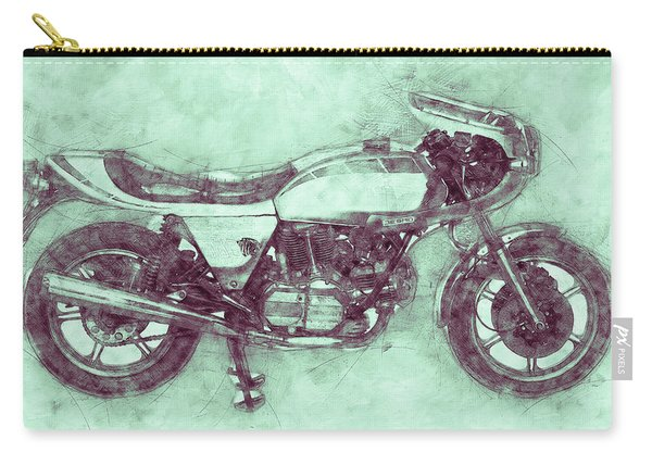 Ducati Supersport 3 - Sports Bike - 1975 - Motorcycle Poster - Automotive Art Carry-all Pouch