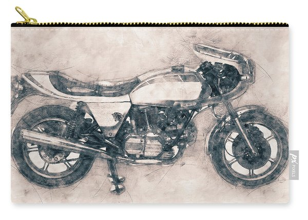 Ducati Supersport - Sports Bike - 1975 - Motorcycle Poster - Automotive Art Carry-all Pouch
