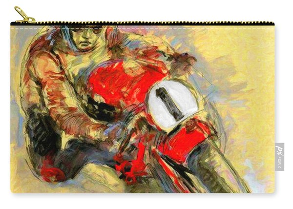 Ducati Vintage Motorcycle Ad Carry-all Pouch