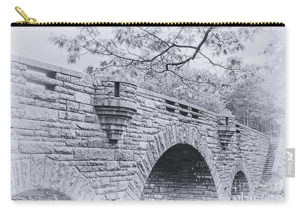 Duck Brook Bridge In Black And White Carry-all Pouch