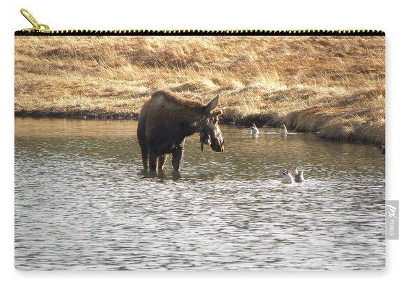 Carry-all Pouch featuring the photograph Ducks - Moose Rollinsville Co by Margarethe Binkley