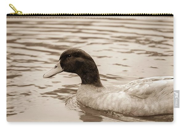 Duck In Pond Carry-all Pouch