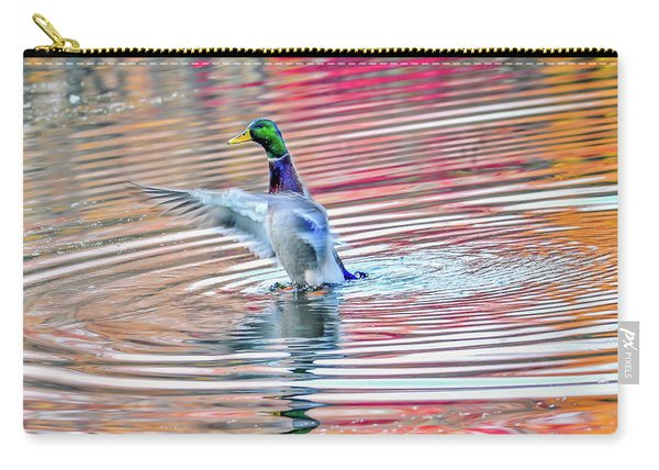 Duck On An Autumn Pond In The Chesapeake Bay Maryland Carry-all Pouch
