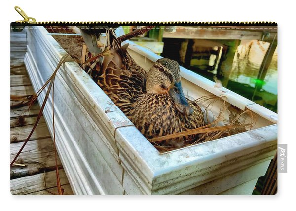 Duck On The Dock Carry-all Pouch