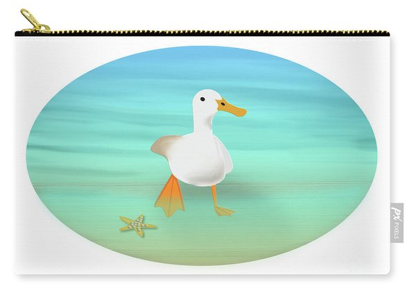Duck Paddling At The Seaside Carry-all Pouch