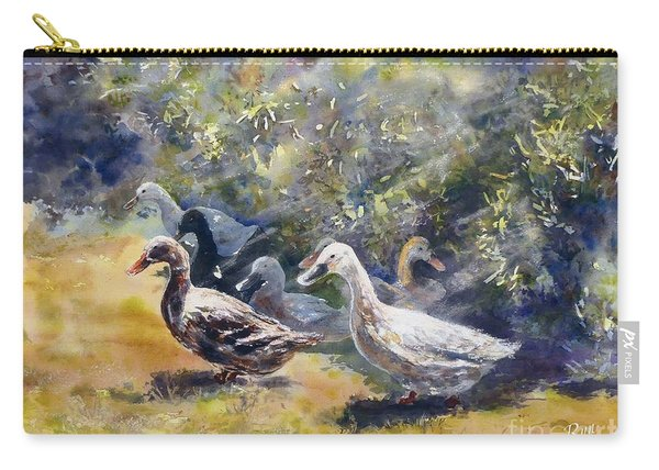 Carry-all Pouch featuring the painting Duck's Day Out by Ryn Shell
