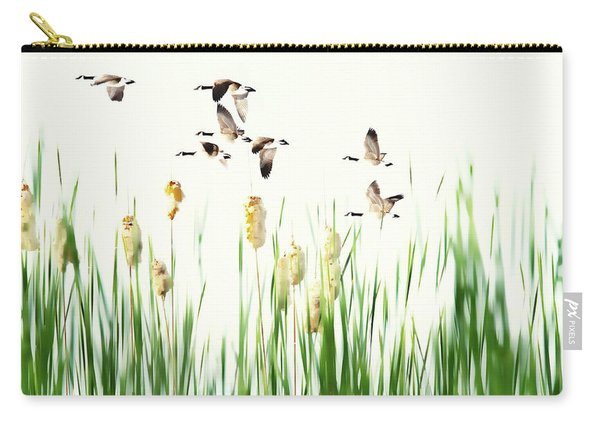 Ducks In Flight - Migration  Carry-all Pouch