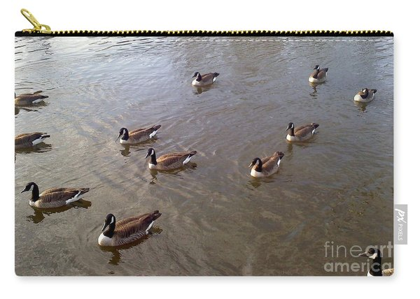 Carry-all Pouch featuring the photograph Ducks On The Occoquan River by Jimmy Clark