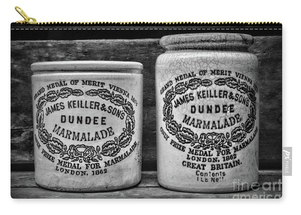 Dundee Marmalade Country Kitchen Black And White Carry-all Pouch