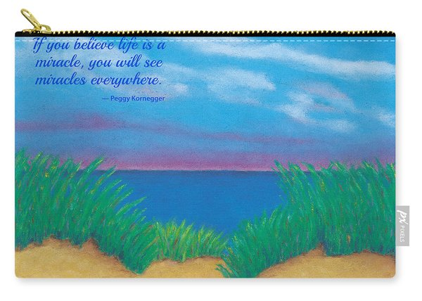 Dunes At Dawn - With Quote Carry-all Pouch