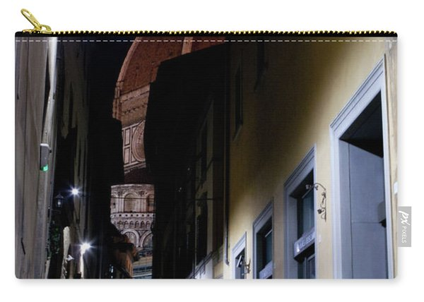 Carry-all Pouch featuring the photograph Duomo In The Dark by Matthew Wolf