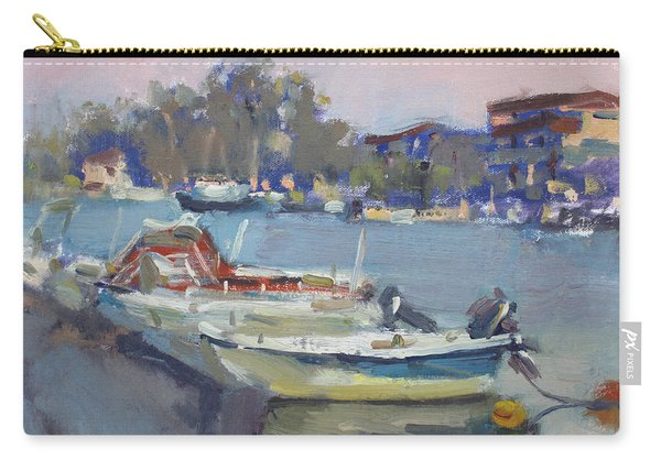 Dusk At Chalkoutsi's Harbor Greece Carry-all Pouch