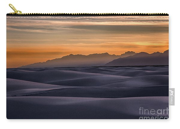 Carry-all Pouch featuring the photograph Dusk At White Sands by Susan Warren
