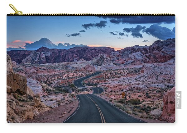 Dusk On The Open Road Carry-all Pouch