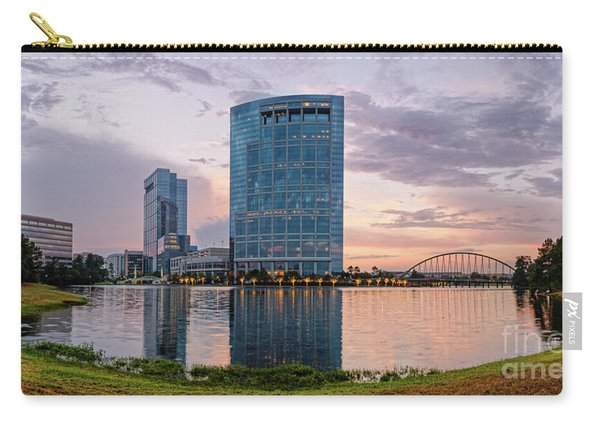 Dusk Panorama Of The Woodlands Waterway And Anadarko Petroleum Towers - The Woodlands Texas Carry-all Pouch