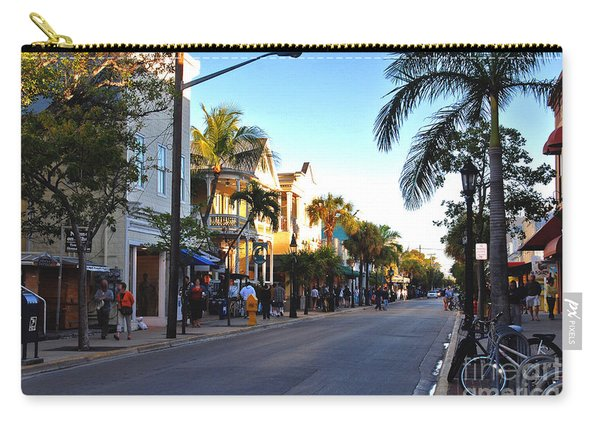 Duval Street In Key West Carry-all Pouch