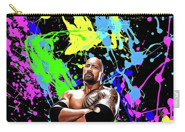 Dwayne Johnson - Celebrity Art Carry-all Pouch